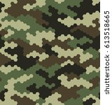 camouflage pattern background... | Shutterstock .eps vector #613518665