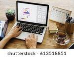 graphic design icon creative... | Shutterstock . vector #613518851