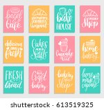 vector set of vintage bakery... | Shutterstock .eps vector #613519325