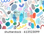abstract creative header.... | Shutterstock .eps vector #613523099