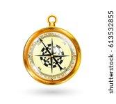 golden compass | Shutterstock .eps vector #613532855