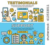 testimonials  support thin line ... | Shutterstock .eps vector #613533011