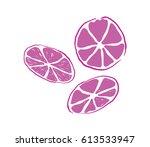 purple orange fruit vector... | Shutterstock .eps vector #613533947