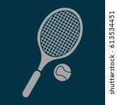 tennis icon vector | Shutterstock .eps vector #613534451