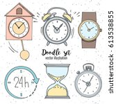 set of doodle sketch watches....