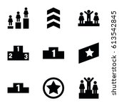 ranking icons set. set of 9... | Shutterstock .eps vector #613542845