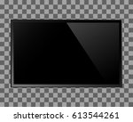 tv blank screen. modern lcd ... | Shutterstock .eps vector #613544261