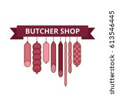 Butcher Shop Banner. Meat And...