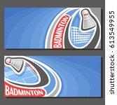 vector banners for badminton... | Shutterstock .eps vector #613549955