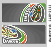 vector banners for darts game ... | Shutterstock .eps vector #613549985