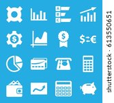 economy icons set. set of 16... | Shutterstock .eps vector #613550651