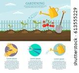 big set infographics vector... | Shutterstock .eps vector #613555229