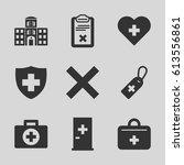 cross icons set. set of 9 cross ... | Shutterstock .eps vector #613556861