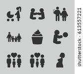 mom icons set. set of 9 mom...   Shutterstock .eps vector #613557221
