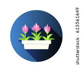 vector illustration with flower ... | Shutterstock .eps vector #613561649