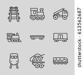 train icons set. set of 9 train ... | Shutterstock .eps vector #613562687