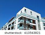 modern  luxury apartment... | Shutterstock . vector #613563821