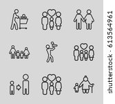 father icons set. set of 9... | Shutterstock .eps vector #613564961