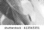 black and white halftone... | Shutterstock .eps vector #613565351