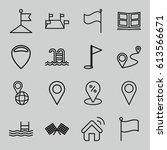location icons set. set of 16... | Shutterstock .eps vector #613566671