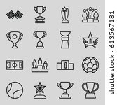 championship icons set. set of... | Shutterstock .eps vector #613567181