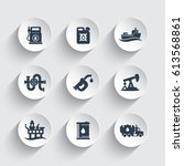 petroleum industry icons set ... | Shutterstock .eps vector #613568861