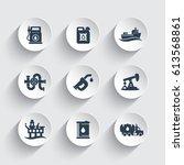 petroleum industry icons set ... | Shutterstock .eps vector #613568861