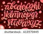 pink glossy letters. ice cream... | Shutterstock .eps vector #613570445