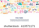 sport site page  banner or... | Shutterstock .eps vector #613571171