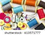 sewing thread | Shutterstock . vector #613571777