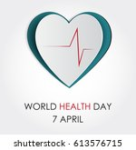 vector world health day design... | Shutterstock .eps vector #613576715