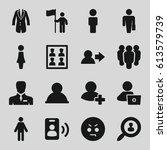 user icons set. set of 16 user... | Shutterstock .eps vector #613579739