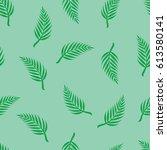 seamless texture of green palm... | Shutterstock .eps vector #613580141