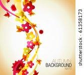 abstract autumn vector... | Shutterstock .eps vector #61358173