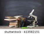 education concept   books and... | Shutterstock . vector #613582151