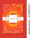 mandala vintage template card... | Shutterstock .eps vector #613585217
