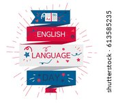 english language day banner... | Shutterstock .eps vector #613585235