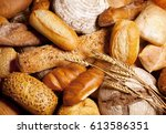 assorted bread and pastry | Shutterstock . vector #613586351