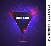 flyer  banner or pamphlet club...   Shutterstock .eps vector #613587635