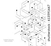 hexagons genetic  science ...   Shutterstock .eps vector #613591667
