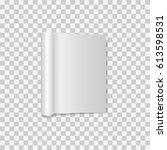 blank open magazine template... | Shutterstock .eps vector #613598531