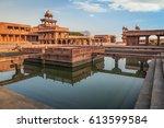 fatehpur sikri   a unesco world ... | Shutterstock . vector #613599584