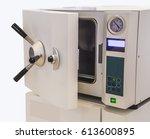 ethylene oxide gas sterilizer ...   Shutterstock . vector #613600895