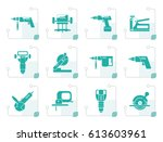 stylized building and... | Shutterstock .eps vector #613603961