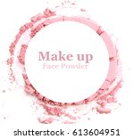 makeup powder banner with text... | Shutterstock . vector #613604951