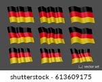 3d waving flag of germany.... | Shutterstock .eps vector #613609175