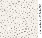 scattered geometric line shapes.... | Shutterstock .eps vector #613614605