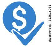 accept payment glyph pictogram. ... | Shutterstock . vector #613616051