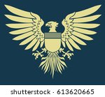 vector illustration of coat of... | Shutterstock .eps vector #613620665