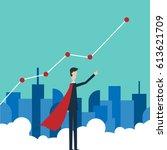 profit concept  growing... | Shutterstock .eps vector #613621709
